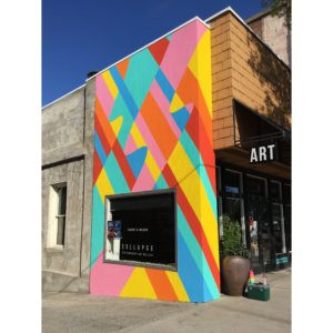 Finished mural at Collapse Gallery.