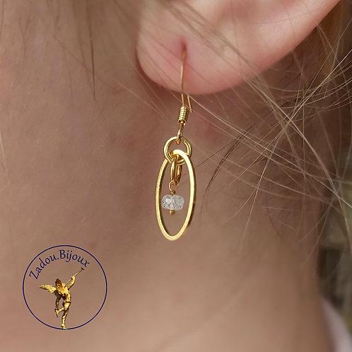 #012 Boucles Mama Enza dorées (La paire)