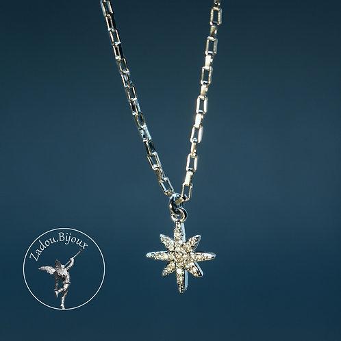 #039 Collier Estrella argenté