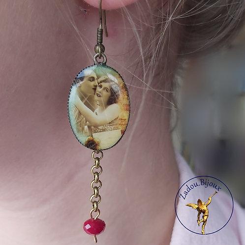 """#010 Boucles d'oreilles """"Le bisou"""""""
