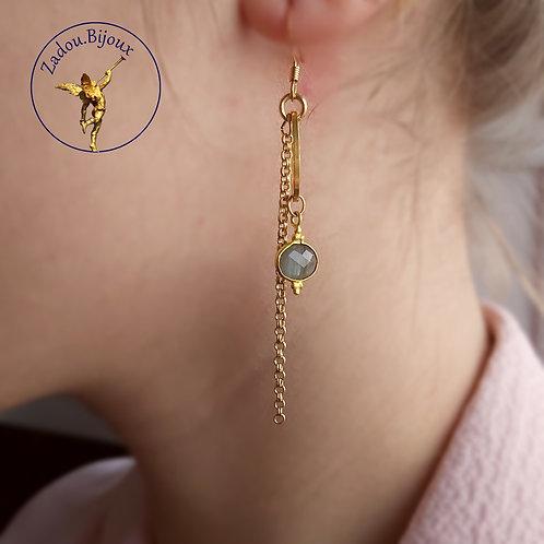 #021 Boucles d'oreilles Niki dorée
