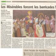 2011 10 17 l'Avenir Verviers Miserables.
