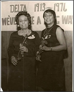 Hilda Smith on the left - Charter member