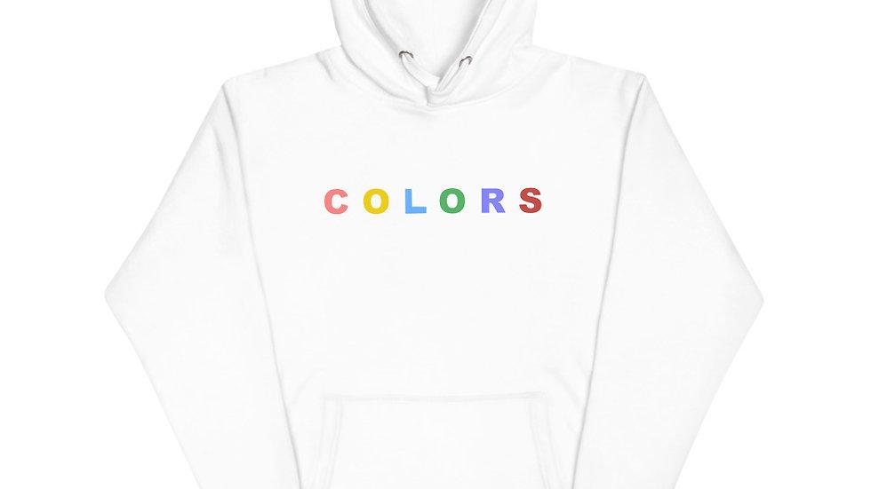 """Colors"" Unisex Hoodie (White)"