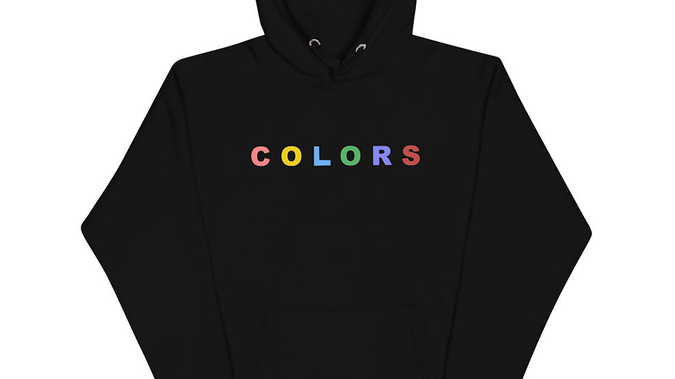 """""""Colors"""" Unisex Hoodie (Black)"""