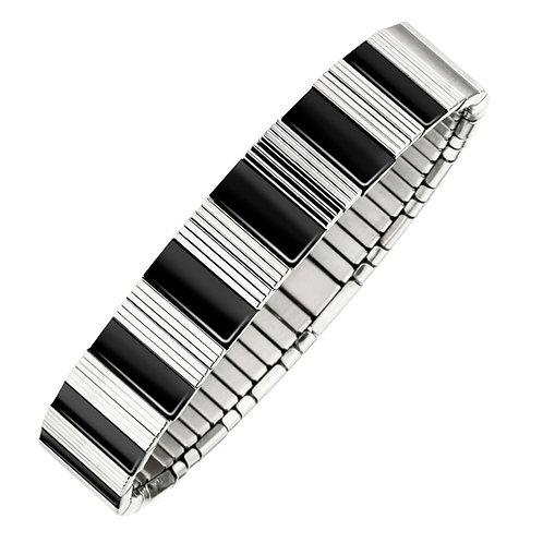Bracelet magnétique souple à fines lignes
