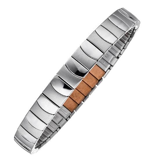 Bracelet flexi, couleur argent, design mat/brillant