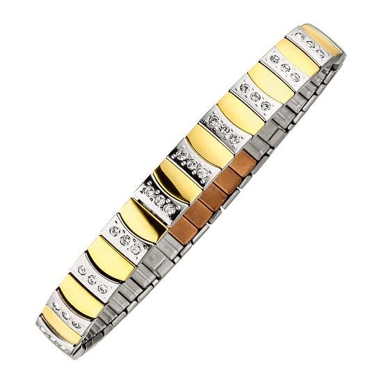 Bracelet flexi magnétique bicolore