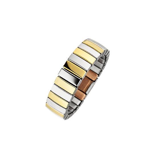 Anneau magnétique flexible en version bicolore avec cuivre