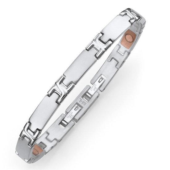 """Bracelet Segments en inox """"étroit"""""""