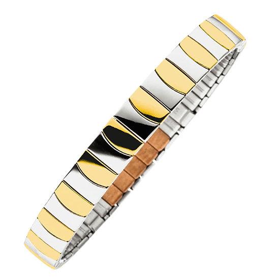 Bracelet magnétique flexi bicolore