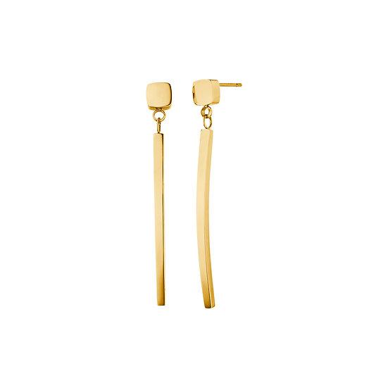 Boucles d'oreilles magnétiques au design géométrique tendance couleur or