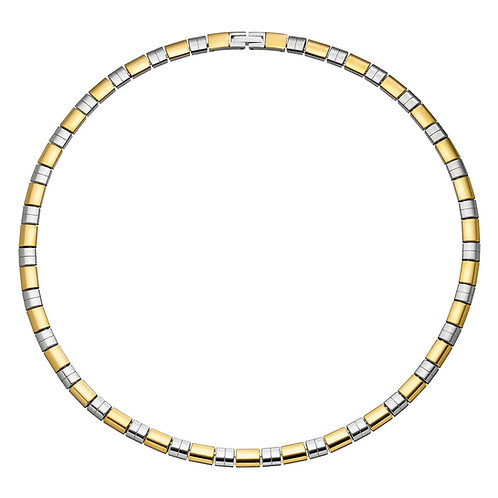 Collier magnétique Pure au design bicolore