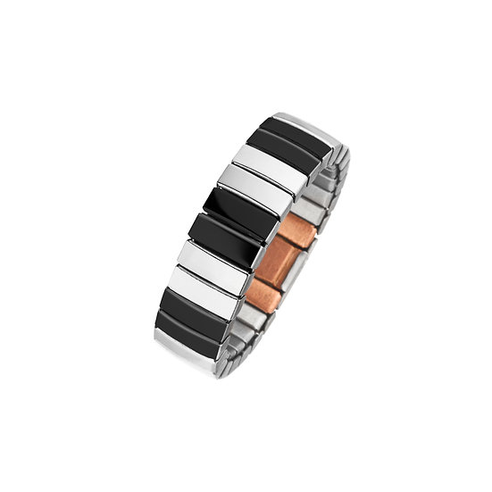 Bague magnétique flexible bicolore avec anneau magnétique noir