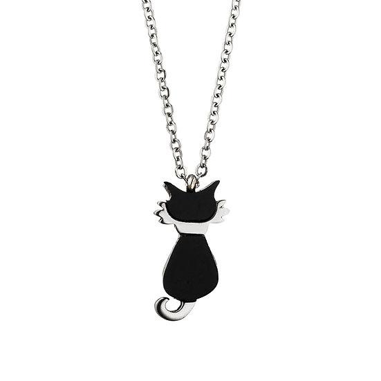 Collier magnétique avec pendentif chat