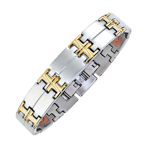 "Bracelet Segments bicolore ""large"""