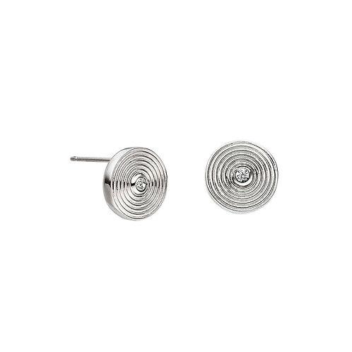 Boucles d'oreilles aimantées en forme de cercle 10 mm avec cristal Swarovski