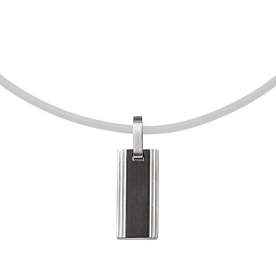 Pendentif magnétique à lignes fines, acier inoxydable-noir