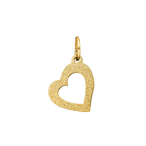 Pendentif avec motif coeur couleur or