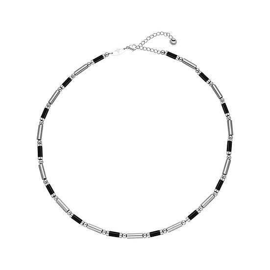 Collier magnétique bicolore noir