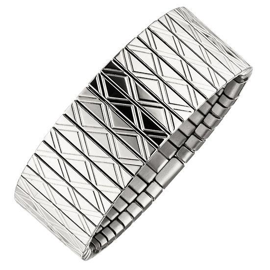 Bracelet magnétique flexi acier inoxydable avec cuivre 22mm