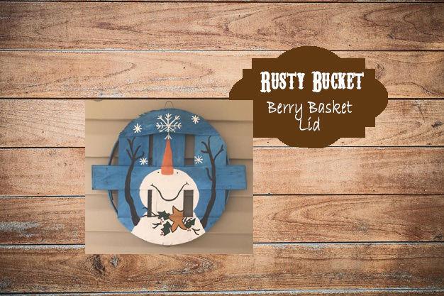 Snowman Berry Basket Lids | Dec 13