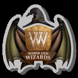 Wings & Wizard Logo Pin
