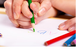Little kid writing picture