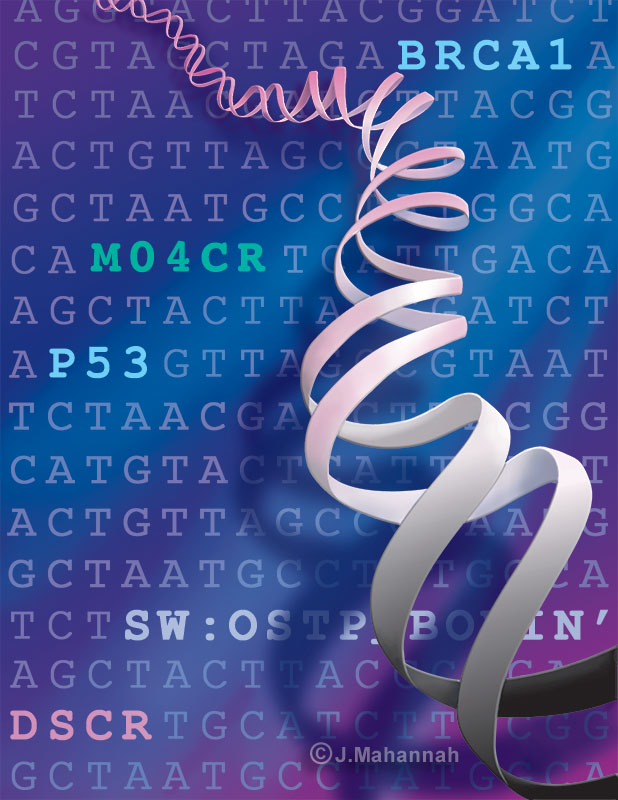 DNA, magazine illustration