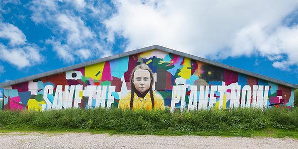 Streetart StreetCorner Save the Planet Now