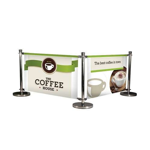 Deluxe Café Barrier - Rail (1000mm)