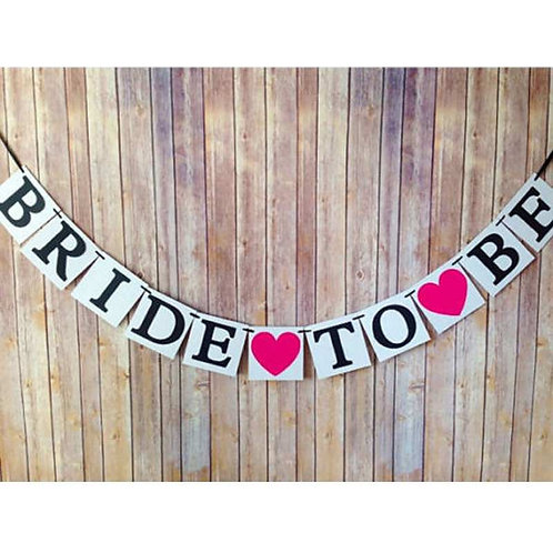 Bride To Be Garland Bunting