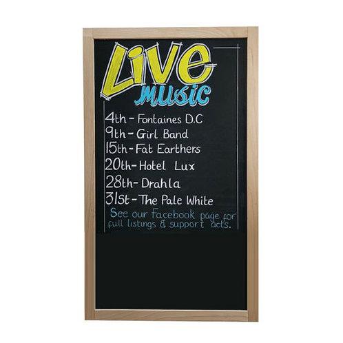 Beech Wood Framed Chalkboard/Blackboard (600x1150mm)