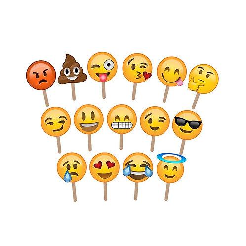 Full Face Emoji Photo Props
