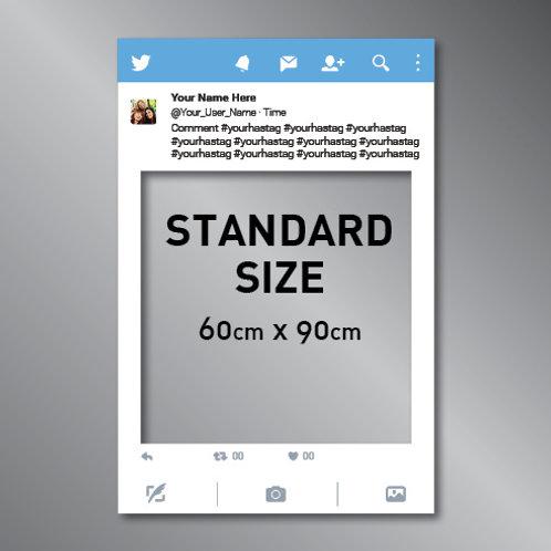Twitter Frame Cut Out Photo Prop (60x90cm)