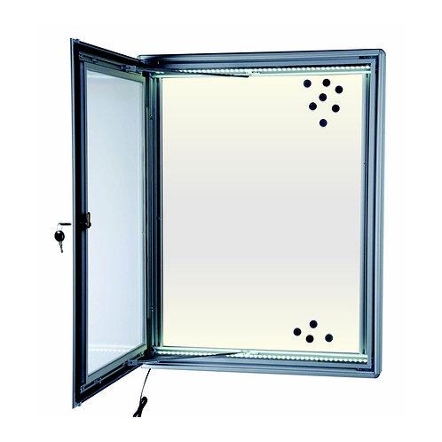 Outdoor Illuminated Lockable Magnetic Notice Board (4xA4)