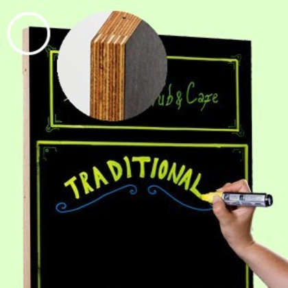 Double sided frameless chalkboard (300x400mm)