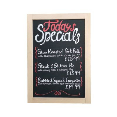 Beech Wood Framed Chalkboard/Blackboard (300x400mm)
