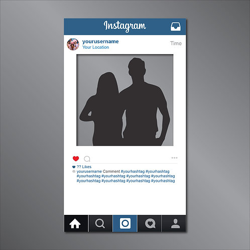Giant Free-standing Instagram Frame Cut Out Prop INTERNATIONAL
