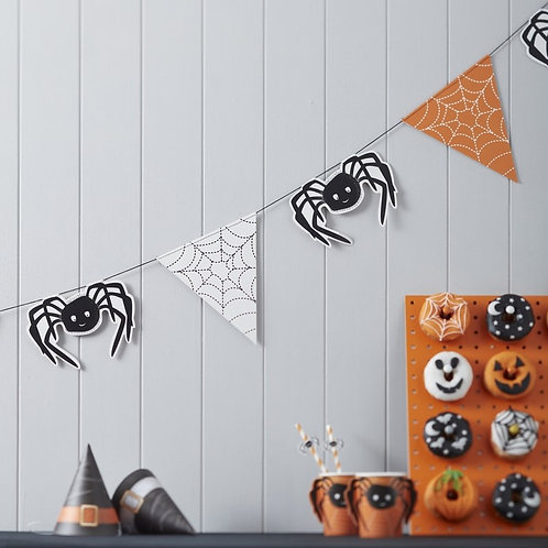 Spooky Halloween Spider Web Bunting - Spooky Spider