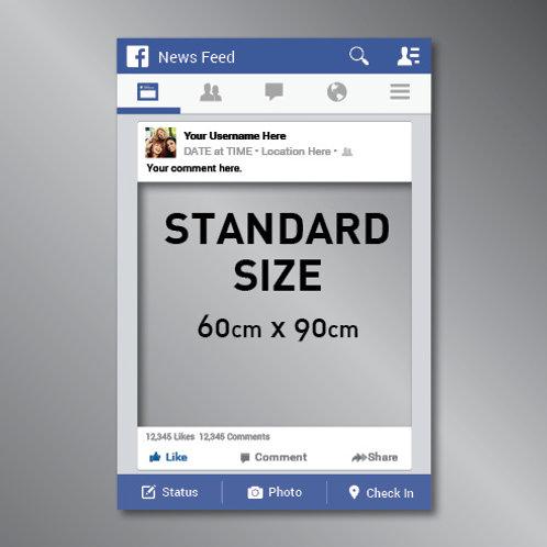 Facebook Frame Cut Out Photo Prop (60x90cm)