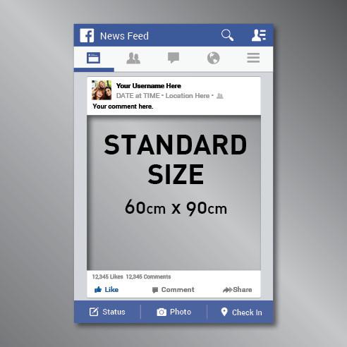 Facebook Frame Cut Out Photo Prop 60x90cm Rspd