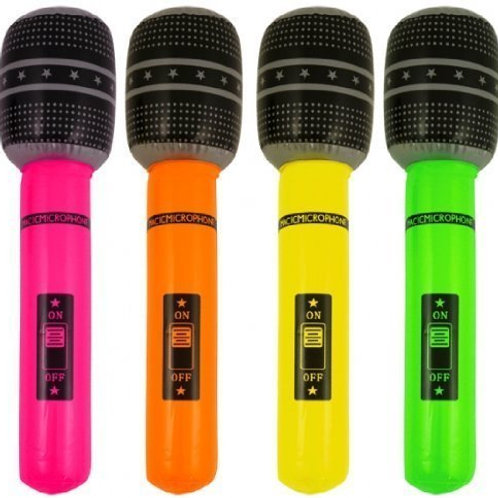 Neon Inflatable Microphone - 40cm