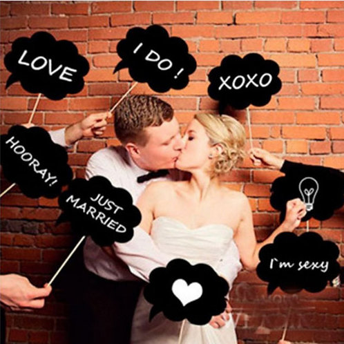 Speech Chalkboard Photo Props (10pc)