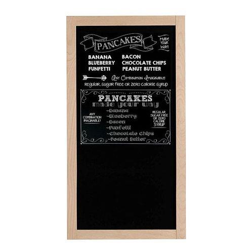 Beech Wood Framed Chalkboard/Blackboard (400x900mm)
