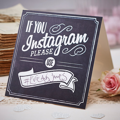 If You Instagram Table Tent Signs - Vintage Affair