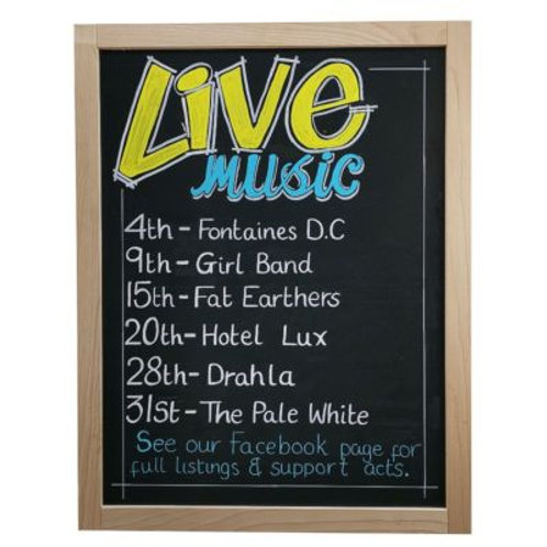 Beech Wood Framed Chalkboard/Blackboard (800x1200mm)