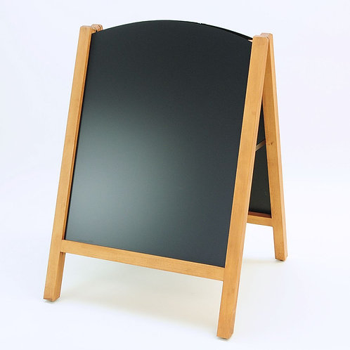 Wooden Chalkboard pavement sign with slot-in blackboard panels 60x78cm