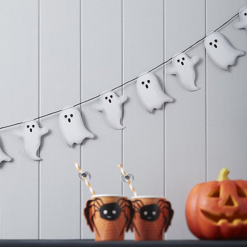 Spooky Halloween Ghost Garland - Spooky Spider