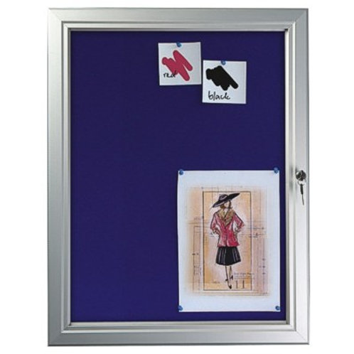 Lockable Felt Noticeboard (6 x A4)